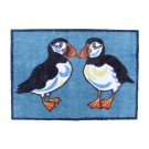 Turtle Mat - Puffins Design Medium size