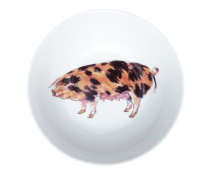 "Richard Bramble Oxford Sandy Black Pig 13cm (5"") Bowl"
