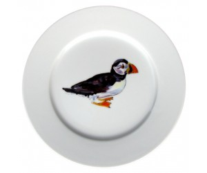 Richard Bramble Puffin Walking 19cm plate