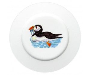 Puffin Swimming 19cm Plate