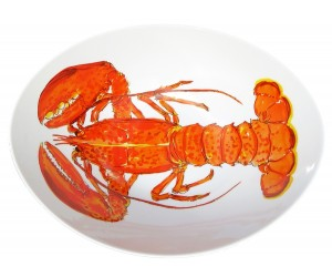 Richard Bramble Red Lobster 27cm Oval Bowl