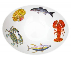 Richard Bramble Fish & Shellfish US East Coast 27cm Oval Bowl