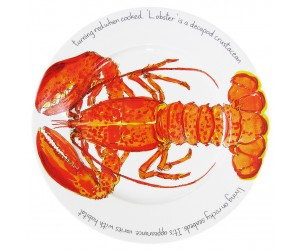 Richard Bramble Red Lobster 30cm Flat Rimmed Plate