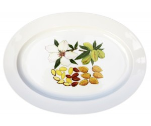 "Richard Bramble Almonds 39cm Oval Plate (15.4"")"