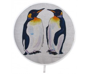 Richard Bramble King Penguin Aga style linen hob pad