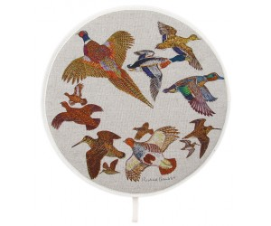 Richard Bramble Gamebirds Aga style linen hob pad