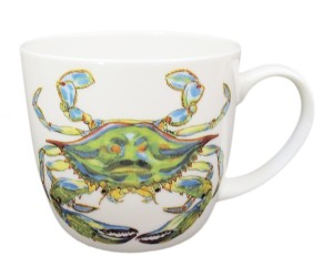 Richard Bramble Blue Crab Mug (medium round sided) end of line