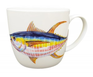 Richard Bramble Yellowfin Tuna Mug (medium round sided) end of line