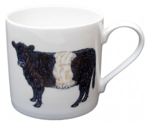 Richard Bramble Belted Galloway Cow Mug (large size) MADE TO ORDER