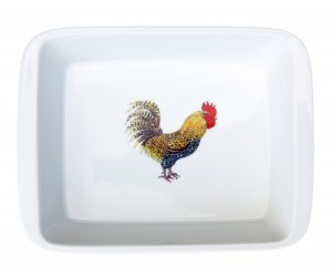 Richard Bramble Cockerel Medium Roaster & Baking Dish
