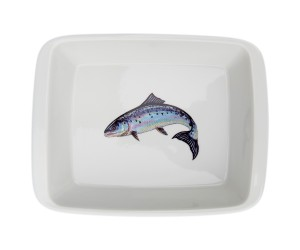 Richard Bramble Salmon Medium Roaster & Baking Dish