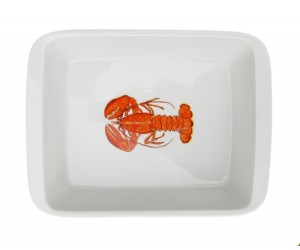 Richard Bramble Red Lobster Medium Roaster & Baking Dish