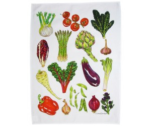 Richard Bramble Vegetable Tea Towel