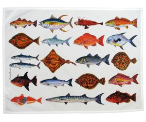 Richard Bramble North American & Tropical SeafishTea Towel