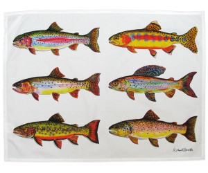 Richard Bramble Trout Tea Towel