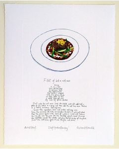 Gordon Ramsay Brill Recipe Artist Print by Richard Bramble
