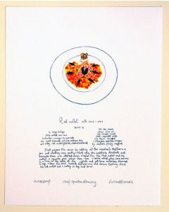 Gordon Ramsay Red Mullet Recipe Artist Print by Richard Bramble