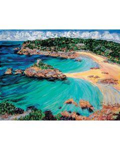 Portelet Bay Jersey print Richard Bramble