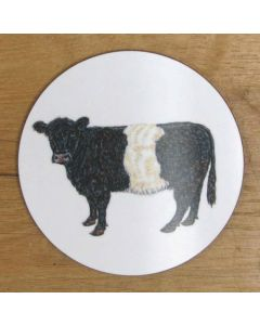 Richard Bramble Belted Galloway Cow Coaster