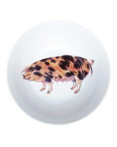 """Richard Bramble Oxford Sandy Black Pig 13cm (5"""") Bowl"""