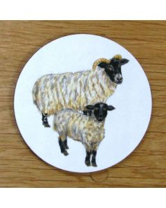 Richard Bramble Blackface Sheep Coaster