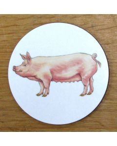 Richard Bramble Large White Pig Coaster