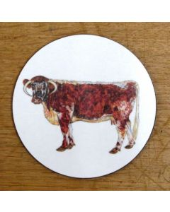 Richard Bramble Longhorn Cow Coaster