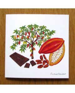 Richard Bramble Cacao Tree and Chocolate Greeting Card