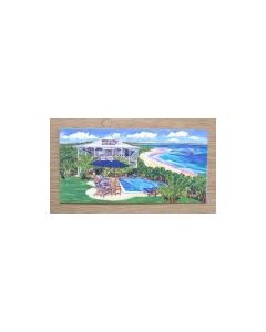 Delphi Club from the Pool, Greetings Card