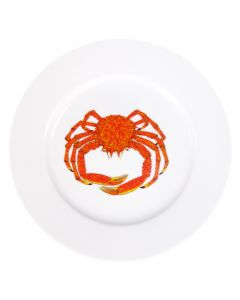 Spider Crab 19cm Flat Rimmed Plate by Richard Bramble