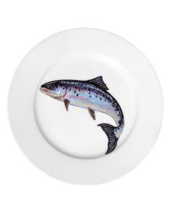 Richard Bramble Salmon 19cm Porcelain Plate