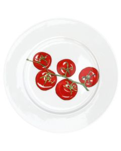 Tomatoes 19cm Flat Rimmed Plate