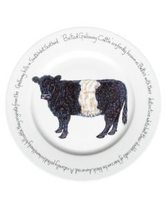Belted Galloway Cow 30cm Plate by Richard Bramble