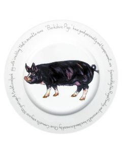 Berkshire Pig 30cm Plate by Richard Bramble