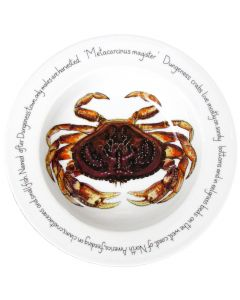 Dungeness Crab 30cm Deep Rimmed Bowl by Richard Bramble