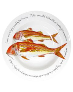 Red Mullet 30cm Deep Rimmed Bowl by Richard Bramble