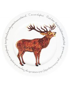 Stag roaring 30cm Flat Rimmed Plate by Richard Bramble