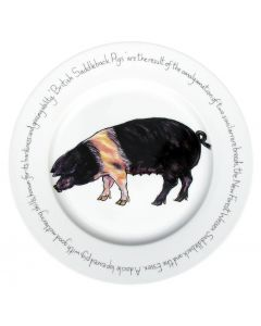 Saddleback Pig Large 30cm Plate by Richard Bramble