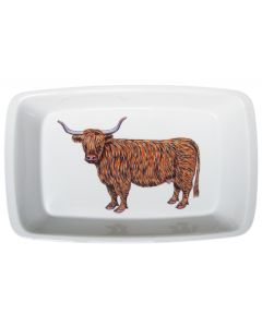 Richard Bramble Highland Cow 39cm Roaster & Baking Dish