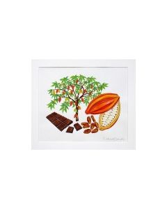 Cacoa Tree & Chocolate Bar Original Painting