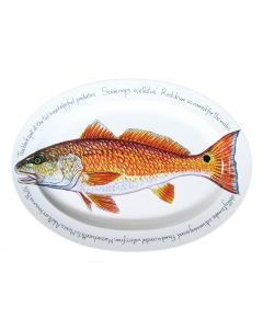 Red Drum & Red Fish Oval Plate design by Richard Bramble