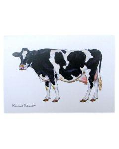 Holstein-Friesian Cow Greeting Card Richard Bramble