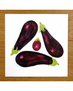 Richard Bramble Aubergine Greeting Card