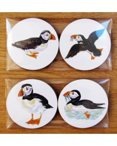 Richard Bramble Puffins Gift Coaster Pack
