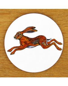 Hare Leaping Coaster by Richard Bramble