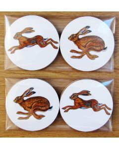 Richard Bramble Hares Gift Coaster Pack