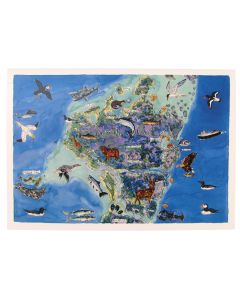North Uist Map Greeting Card