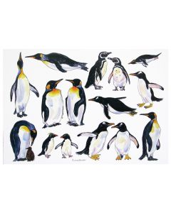 Penguins Greeting Card Large by Richard Bramble