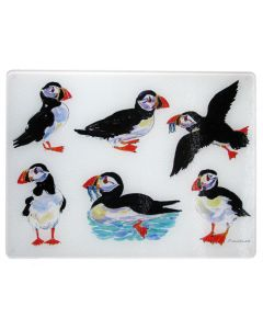 Puffins Heatstand & Surface Protector and chopping board by Richard Bramble