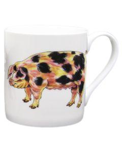Gloucestershire Old Spot & Saddleback Pig Mug by Richard Bramble